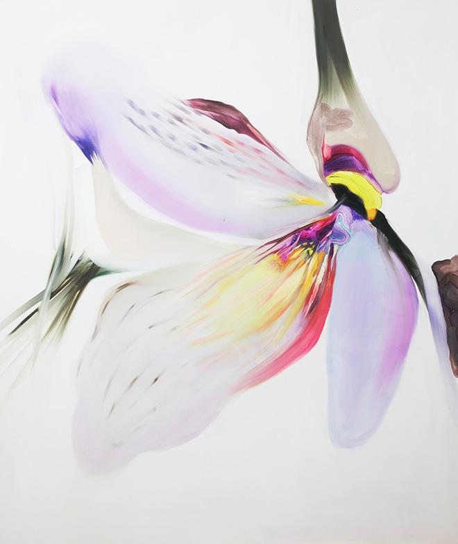 Isabella Nazzarri - Opera al bianco 1, olio su tela, 100x120 cm, 2016