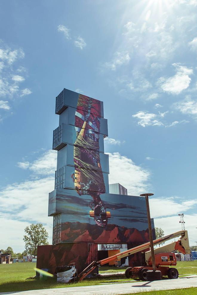 Deih - North West Walls, 2016 - Container graffiti