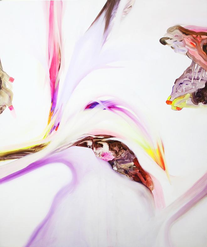 Isabella Nazzarri - Opera al bianco 2, olio su tela, 100x120, 2016