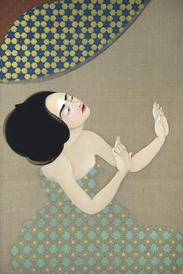 Hayv Kahraman - Ummodach, 2015 – Détail - Huile sur toile, 254 x 200 cm. Courtesy Jack Shainman Gallery, New York