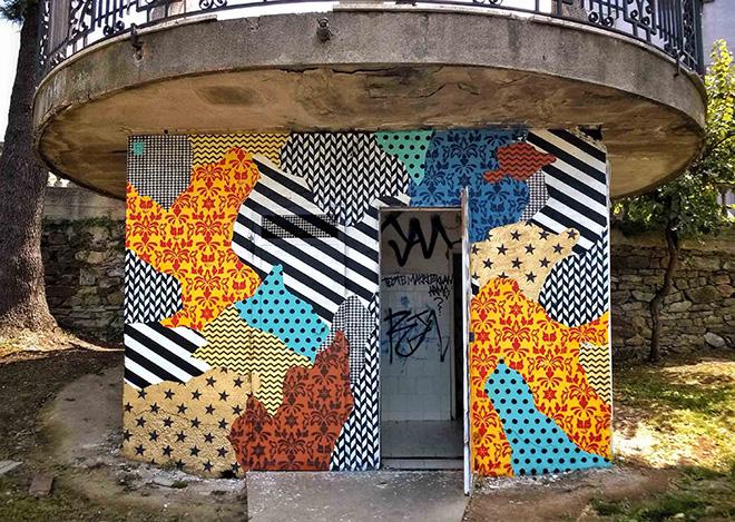 UNO street art - Camouflage 87054, murale a Rogliano (Cosenza), Gulia Urbana 2016