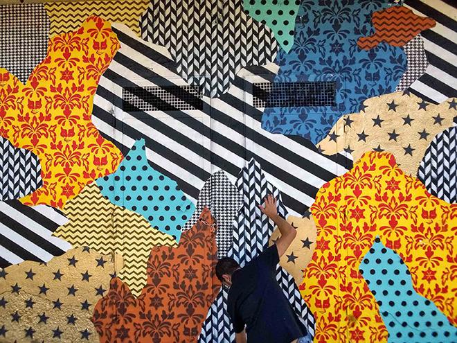UNO – Camouflage 87054, murale a Rogliano