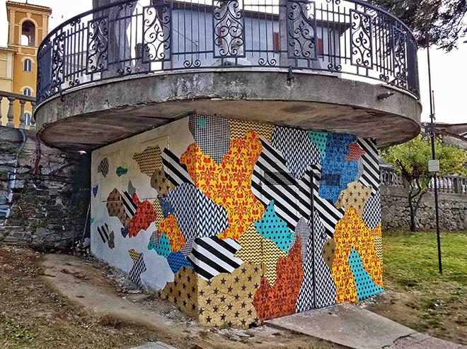 UNO street art - Camouflage 87054, murale a Rogliano (Cosenza) per Gulia Urbana, 2016. Model: Gianmaria aka Ria