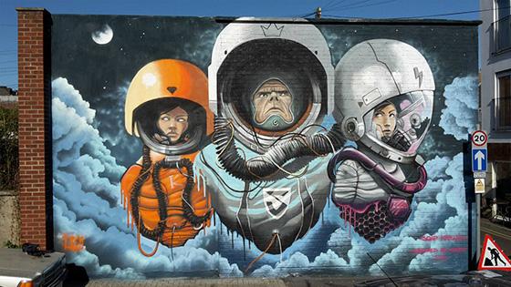 Soap, Krishna Malla - Space Cowboys Mural