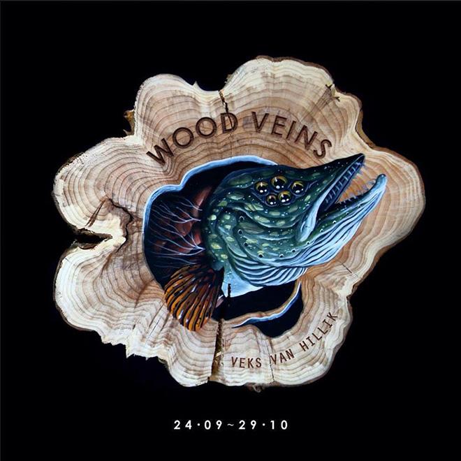 Veks Van Hillik - Wood Veins alla Nero Gallery di Roma