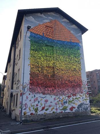 Blu - Murales Bergamo, quartiere Celadina, 2016