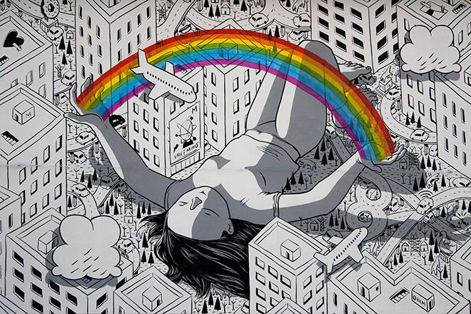 Millo – Blind, murale per Impronte Art Festival