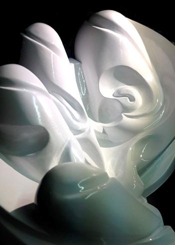Made514 - Fingers feelings memories, Sculpture detail
