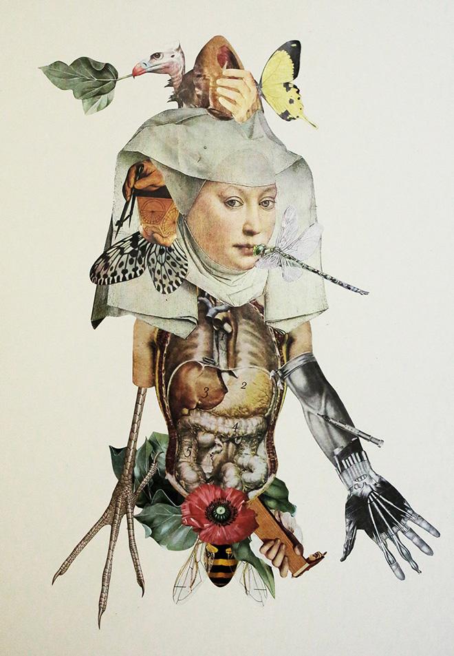 Francesco Viscuso - Hybris, 35 x 50 cm, collage, 2016