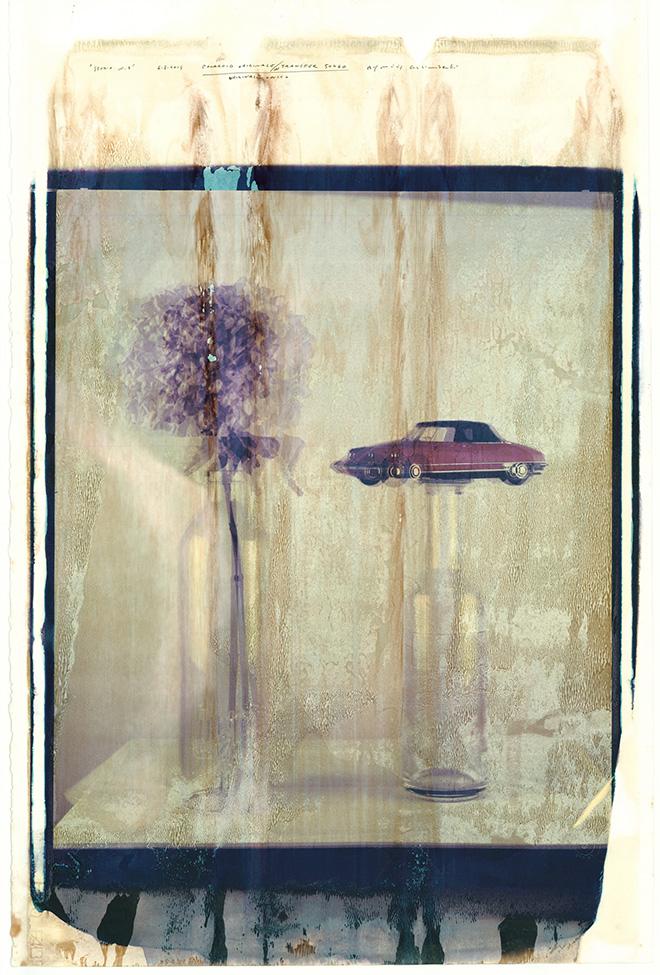 Maurizio Galimberti - Studio n.3, 2015, 50x60 cm | es.unico. Lastra in transfer su foglio carta cotone Fabriano 300 g realizzata con Polaroid 50x60 Giant camera. Courtesy DaDAEAST gallery - Milano