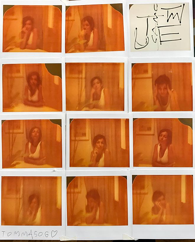 Tommaso M. Galimberti - Mia Mamma, 2016, 28x34 cm es.unico, Mosaico Polaroid image vintage
