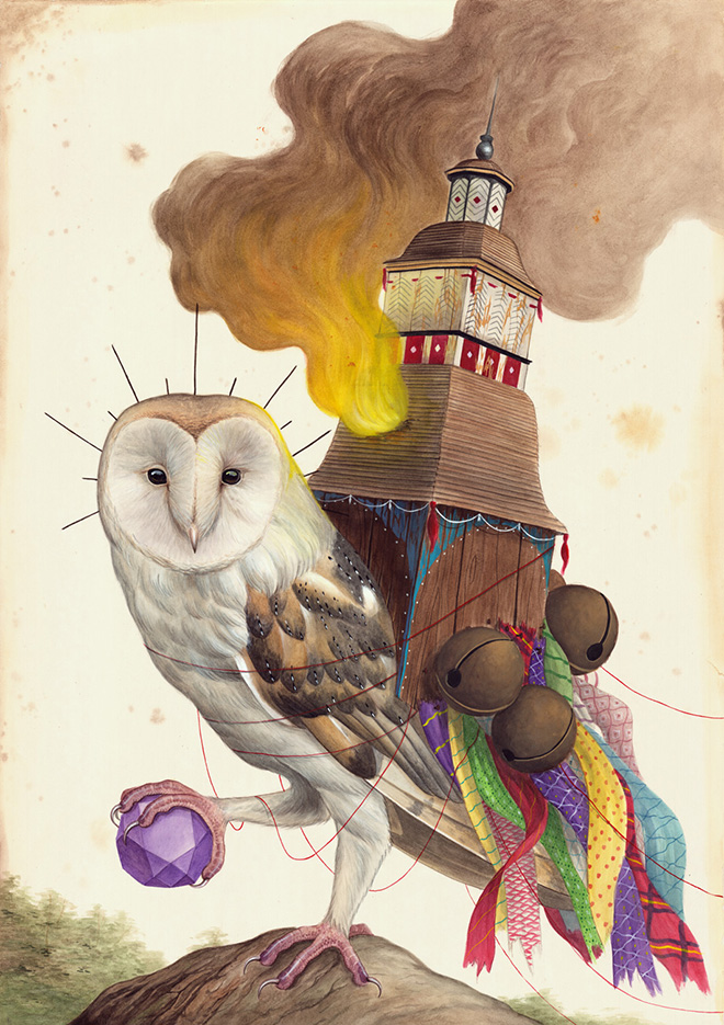 El Gato Chimney - Focus, 100x70cm, watercolor and gouache on cotton paper, 2016