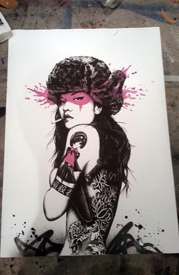 Fin Dac - Killer Instinct, 50x70, Screenprint whit hand finishing