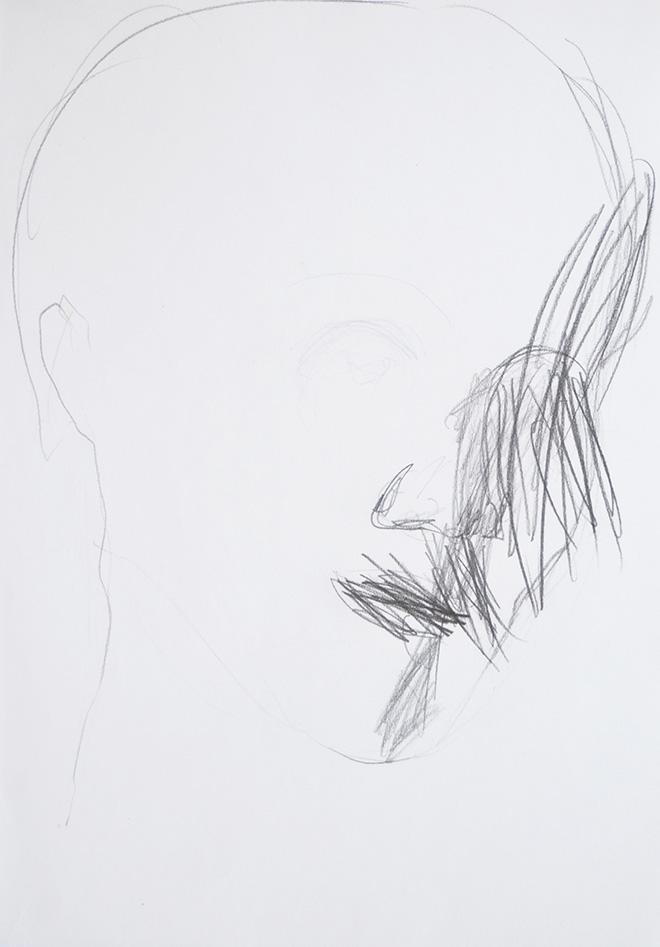 Lello Torchia - Senza titolo, 2010, graphite on paper, 29x21cm