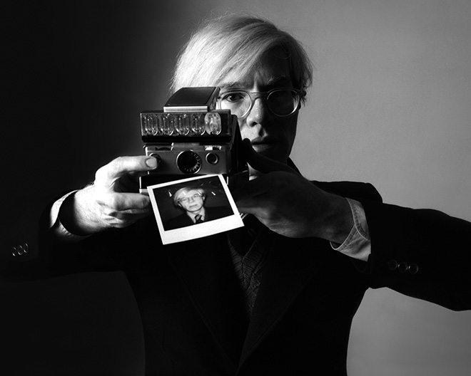 Oliviero Toscani - Andy Warhol per Polaroid, 1975, 11x9 cm  Stampa Inkjet - Epson k3 ultracrome HDR ink Carta Canson Rag Photographique 210 g