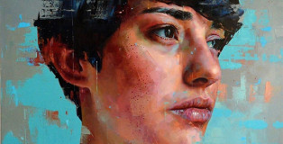 Silvio Porzionato - Untitled 05, 2016. Oil on canvas. Dimensions: Width 190 cm - Height 190 cm
