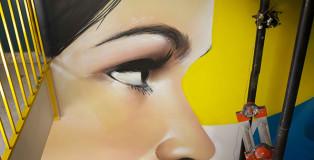 ROSK & LOSTE - A Palermo la street art si mescola al vertical running. All'Ibis Styles le scale si trasformano in un mezzo per fare movimento ammirando le opere d'arte.