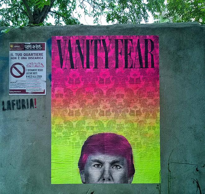 UNO - Vanity Fear, Trump-L'oeil, Roma, 2016