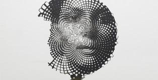 Marc Didou - Anamorfosi 4 (dettaglio), 2013, acciaio corten, cm 75x60