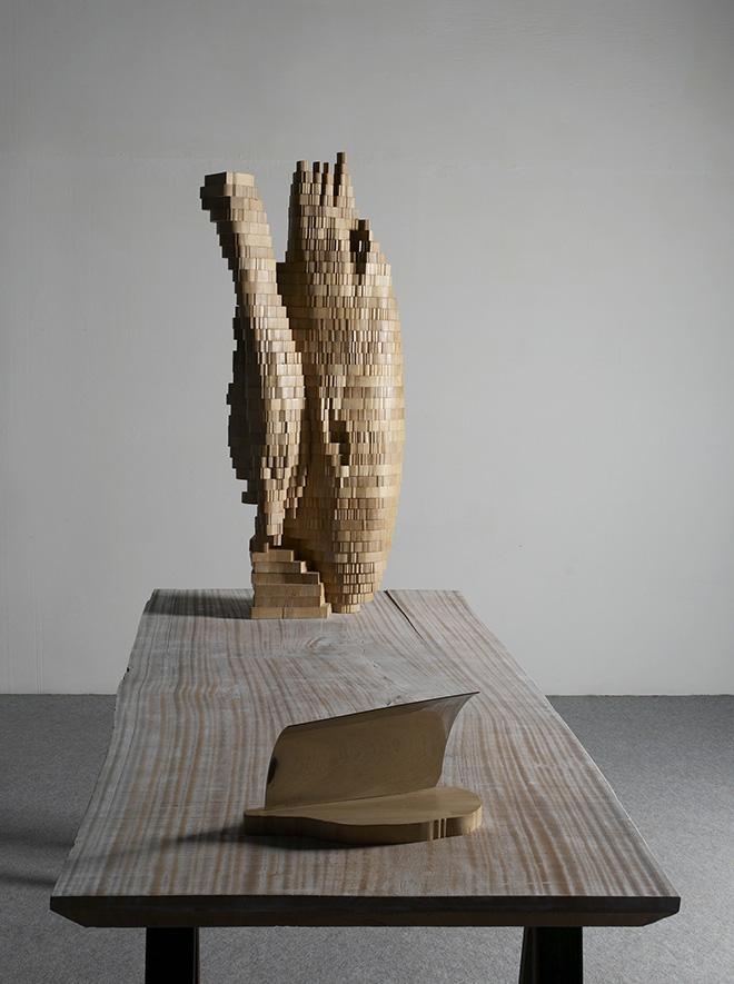 Marc Didou - Anamorfosi 2, 2011, cemento, cm 90x50
