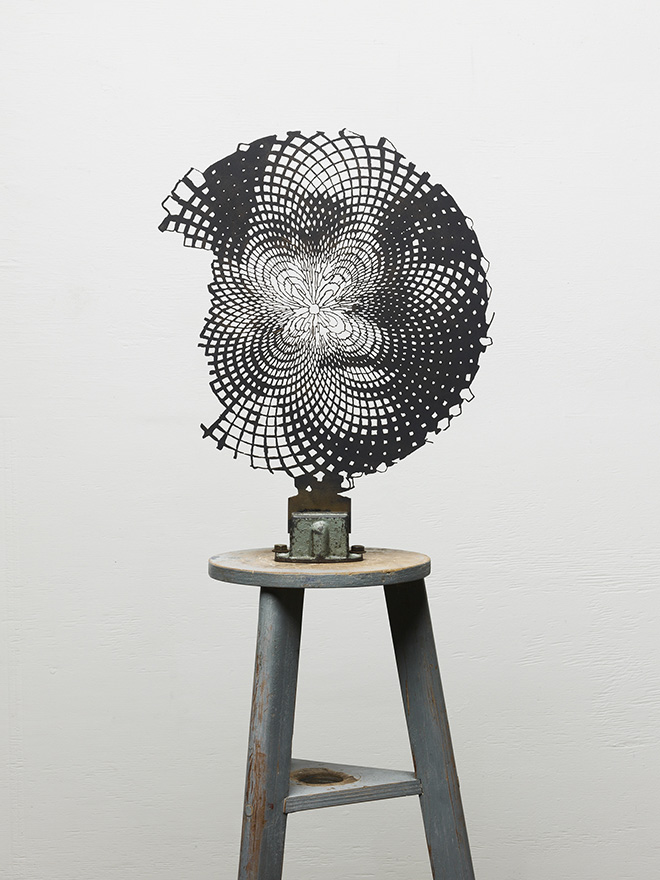 Marc Didou - Anamorfosi 4, 2013, acciaio corten, cm 75x60
