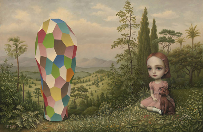 Mark Ryden - Chroma structure 113, 2015, oil on canvas, courtesy of Paul Kasmin Gallery