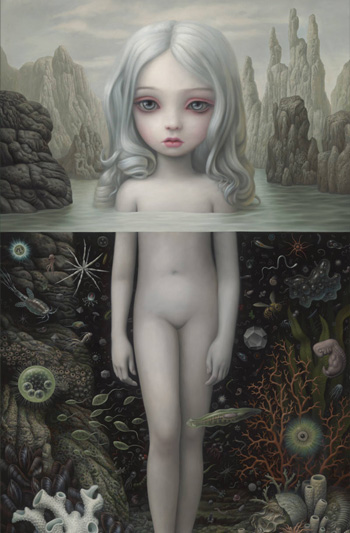 Mark Ryden - Aurora (detail), 2015, oil on canvas, courtesy of Paul Kasmin Gallery