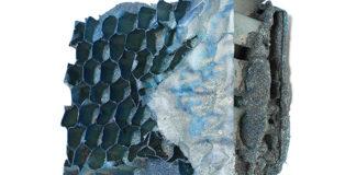 Manuel Grosso - Charta, 2016, strappo, schiume poliuretaniche, sabbia, cartone, acrilici, tavola, 16x19x4 cm
