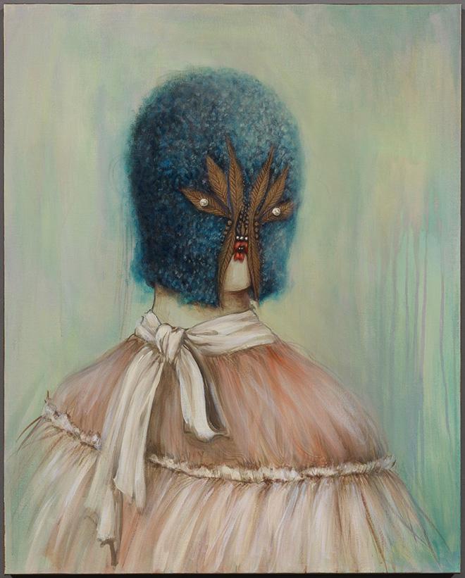 Miss Van - Lady Blue I, 2016 Acrylic on canvas 80x65 cm