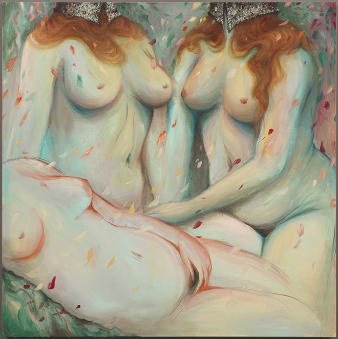 Miss Van - Fillies de Joie, 2016 Acrylic on canvas 150x150 cm