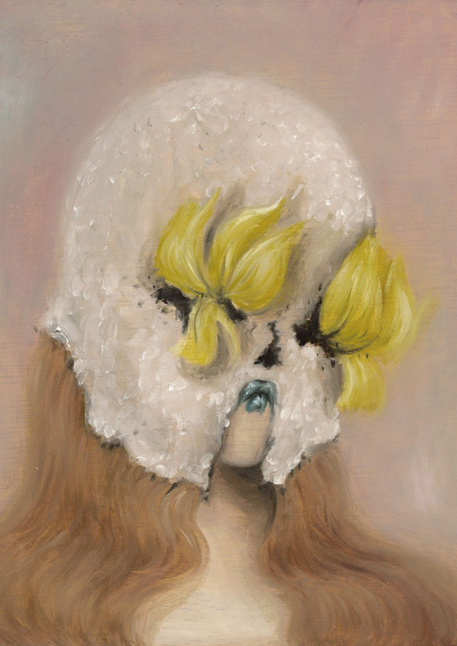 Miss Van - Tiny Muse 1, 2016 Oil on wood 21x25 cm