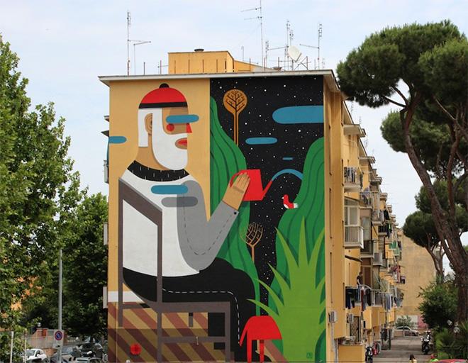 Agostino Iacurci - Blindwall, Roma