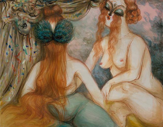 Miss Van - Pasando el tiempo, 2016 Acrylic on canvas 130x89 cm