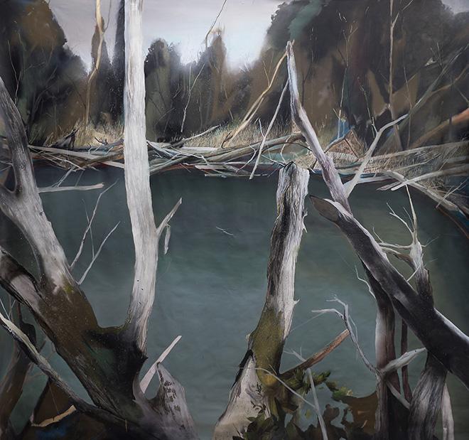 Klāvs Loris (Lettonia) - Beaver Pond, 2015, tecnica mista, cm 280x270
