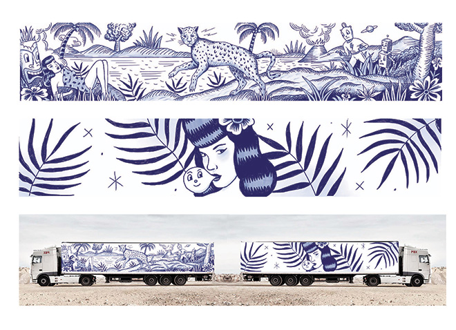 Truck art project - Sergio Mora