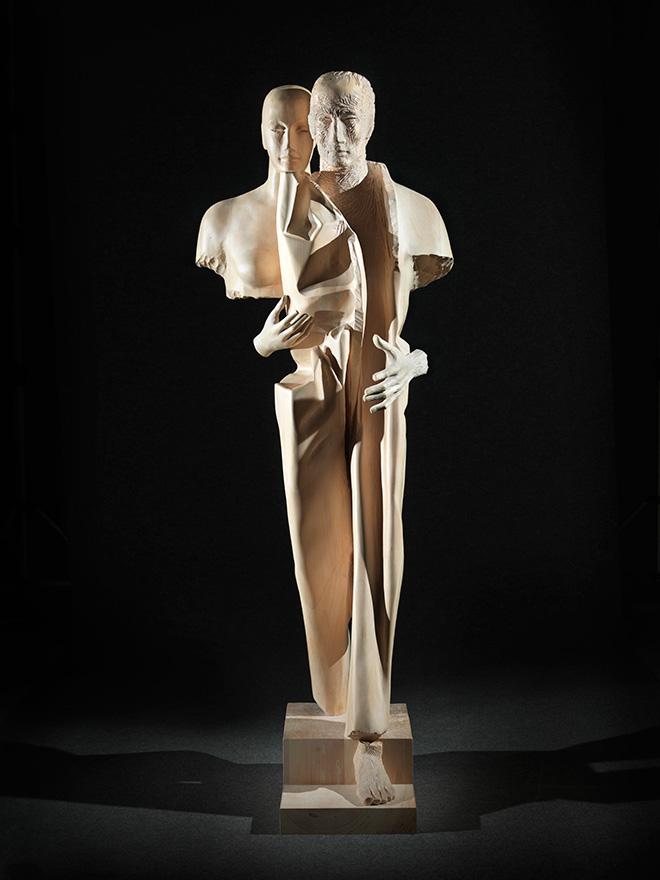 Giorgio Conta - Presence, 2015, wood / legno, 180x50x50 cm