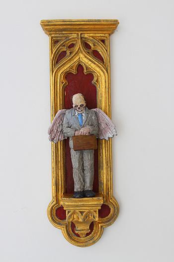 Isaac Cordal - Angel, Polyurethane resin. 40 x 14 x 6,5CM, 2017
