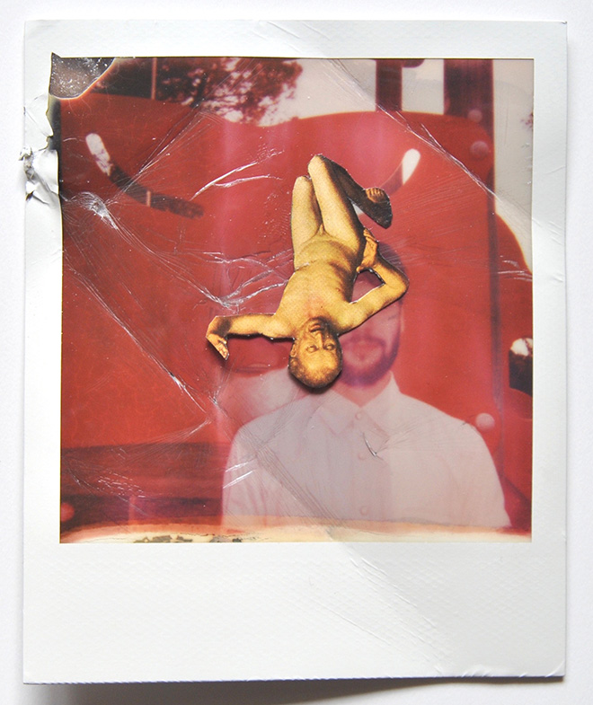 Alex Urso - L'Amour et la Violence. Serie di collages su foto polaroid, 2015