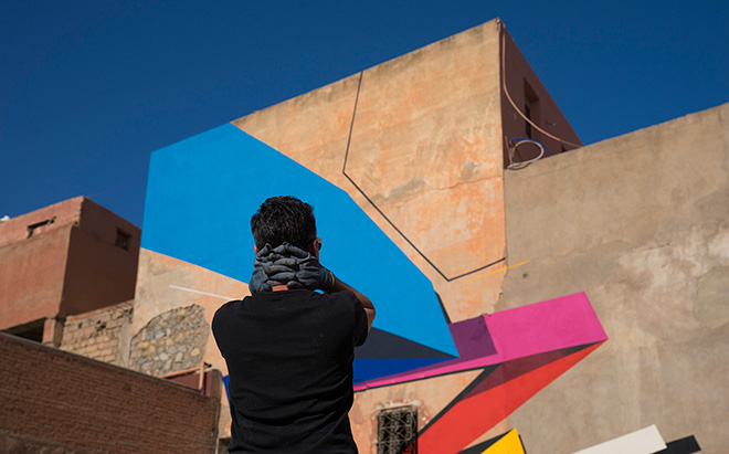 Remi Rough - MB6 street art festival, Marrakesh, 2016. photo credit: Ian Cox