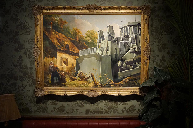 Banksy - The Walled of Hotel, Betlemme