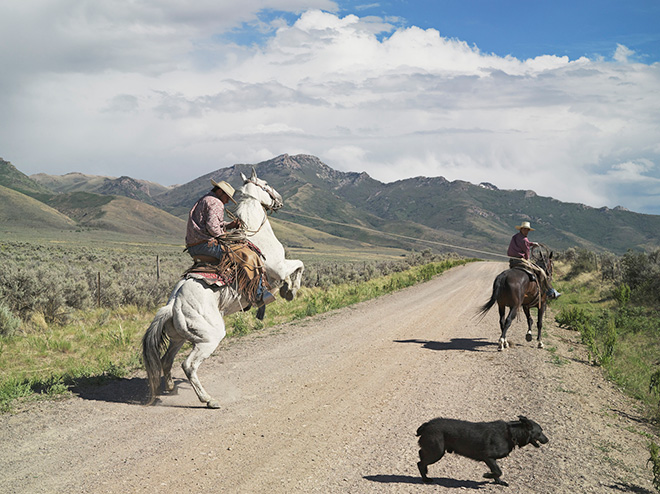 Lucas Foglia (USA) - Casey and Rowdy Horse Training, 71 Ranch, Deeth, Nevada 2012, 36 x 46 inches © Lucas Foglia
