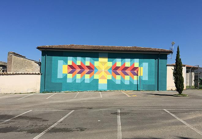 David Petroni - Mural in Selci, (Rieti)