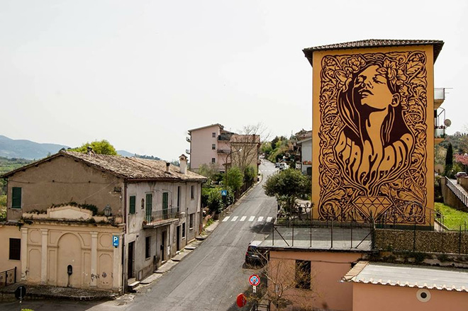 Diamond - Mural in Selci, (Rieti)