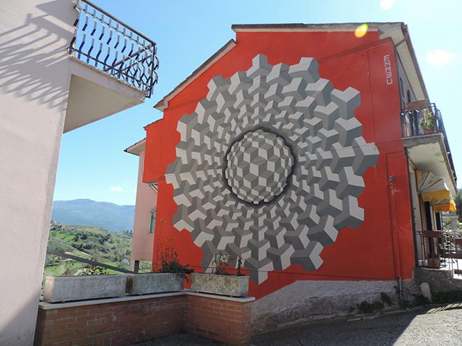 Emmeu - Mural in Selci, (Rieti)