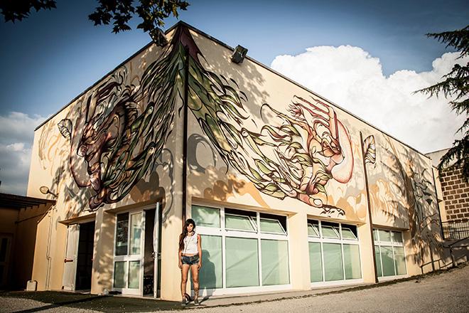 Fio Silva - Mural in Selci, (Rieti)
