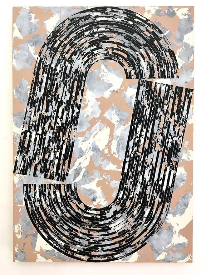 Martina Merlini - Untitled, 2017, mixed media on wood, 50x70 cm