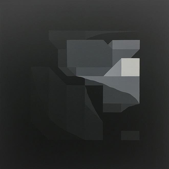 Nelio - Black Mirror 1, acrylic on canvas, 80x80 cm