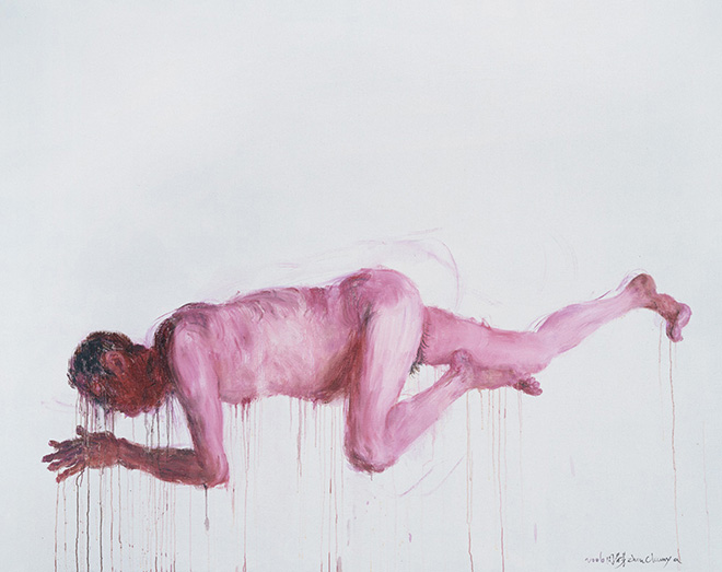 Zhou Chunya - I am a gentle lamb, Oil on Canvas, 2006, UNBOUNDED exhibition, Mantova