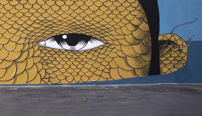 Andrea Casciu - Vedo a colori 2017, Street Art nel porto di Civitanova Marche