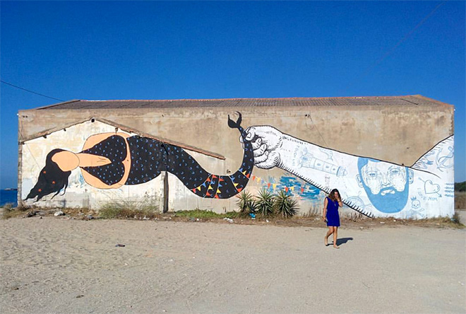 Kiki Skipi + Andrea Casciu - Siren and the Sailor, Torre grande, Oristano, 2016